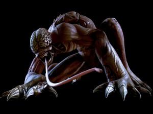 """Uno de los monstruos de la serie de videojuegos """"Resident Evil"""""""
