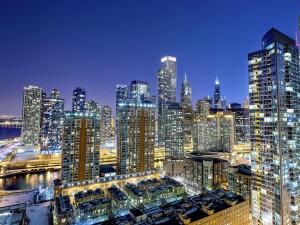 Fría noche en una gran ciudad