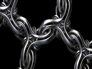 Lineas formando una cadena en 3D