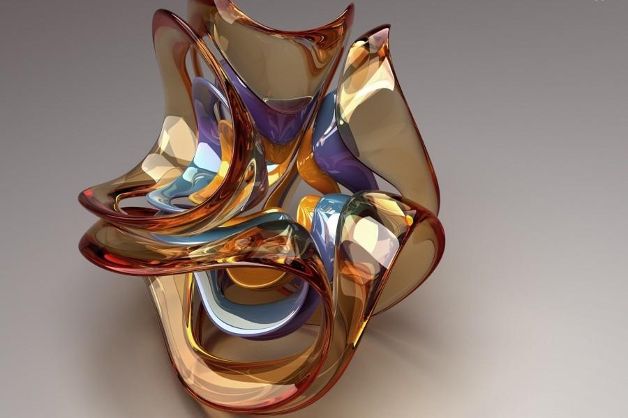 Escultura de vidrio