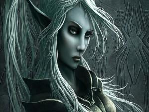El rostro de una mujer elfa