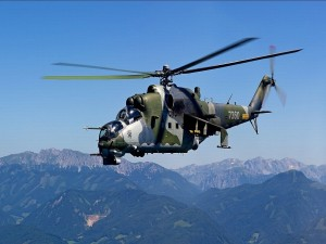 Helicóptero artillado de la marina estadounidense