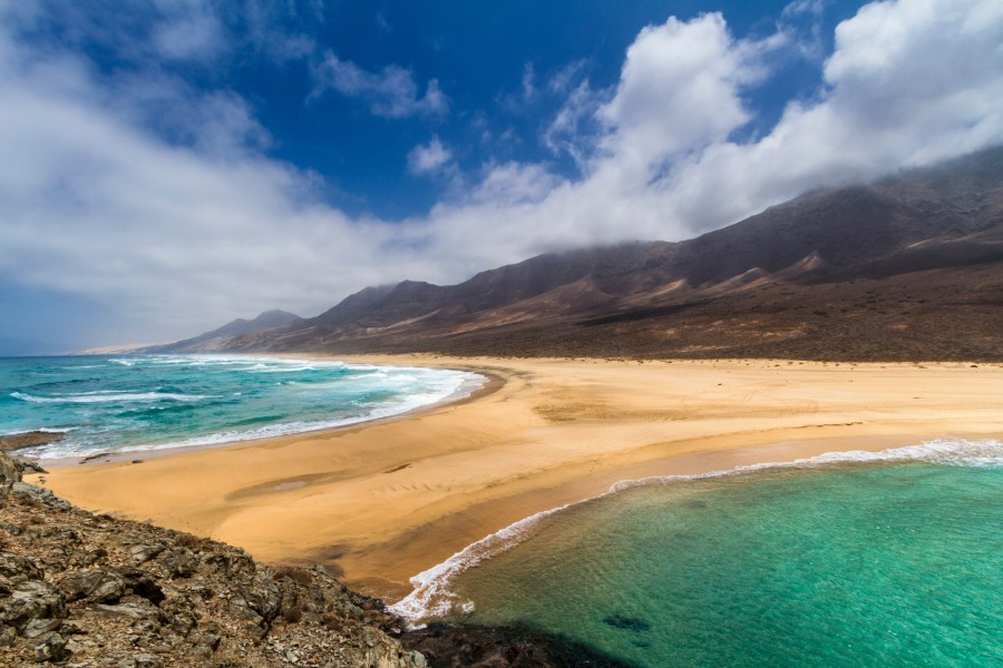 Hermosas vistas de la playa Cofete (Fuerteventura)