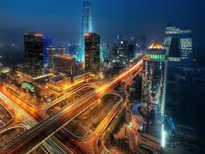 Noche en Pekín (China)