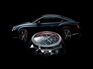 Reloj y coche Bentley