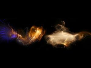 Una pareja de peces de humo