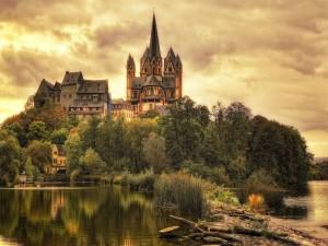 Hermosa vista de Limburgo del Lahn