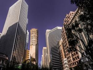 Rascacielos en una ciudad