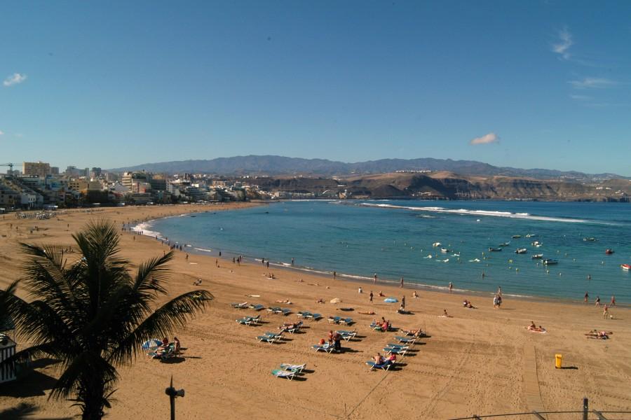 Bonito día en la playa de Las Canteras (Gran Canaria)