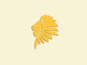 Silueta de un león