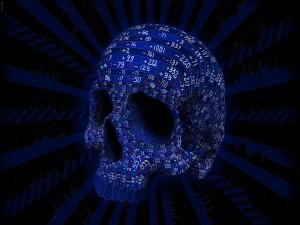 Cifras sobre un cráneo