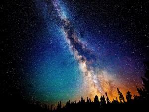 Hermosa vista de la Vía Láctea