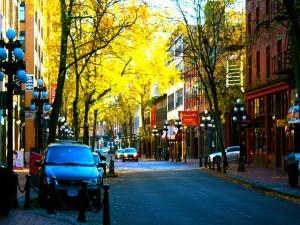 Coches en la calle de una ciudad