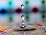 Reflejos en unas gotas de agua