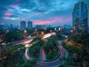 Carreteras en una ciudad