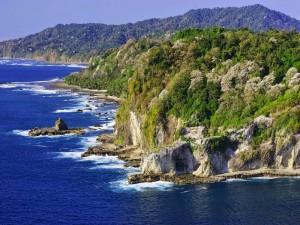 Isla Coiba, ubicada dentro del Parque Nacional Coiba (Panamá)