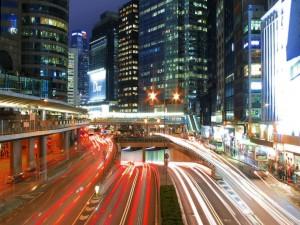 Carreteras en el centro de una ciudad