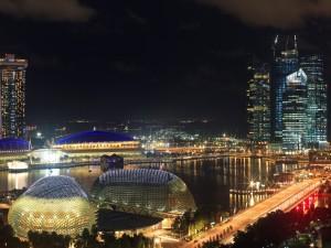 Una noche espectacular en Singapur