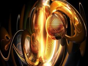 Figura abstracta dorada