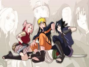 Sakura, Naruto y Sasuke (Naruto)
