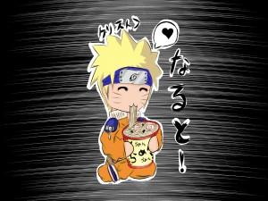 Naruto chibi comiendo ramen