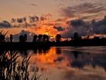 Amanece en el lago