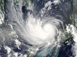 Tornado visto por satélite