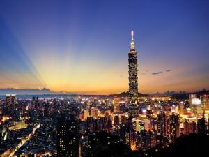 Amanece en Taipéi (Taiwán)