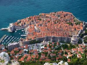 Vista aérea de Dubrovnik (Croacia)