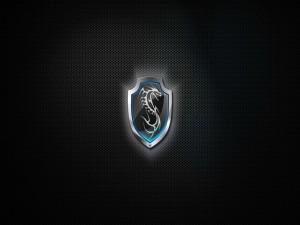 Dragón en un escudo