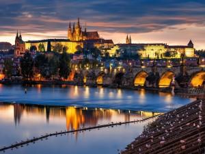 Bonita vista de Praga