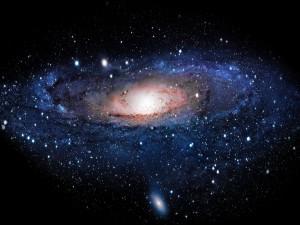 Una galaxia espiral
