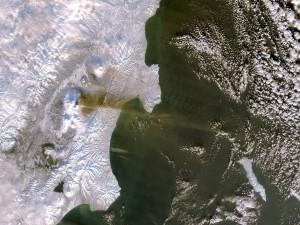 Zona helada de la Tierra vista desde el espacio
