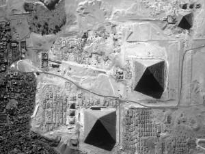 Vista aérea de las Pirámides de Egipto