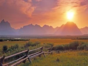 Sol iluminando el valle