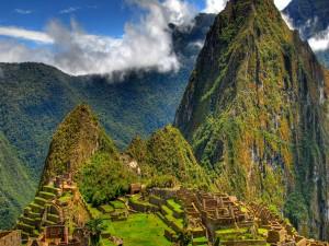 Hermosa vista del Machu Pichu