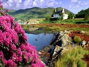 Casa junto a un lago