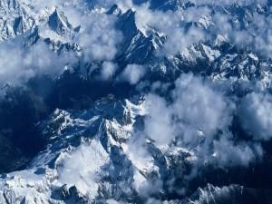 Montañas vistas desde el aire