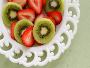 Ensalada de fresas y kiwis