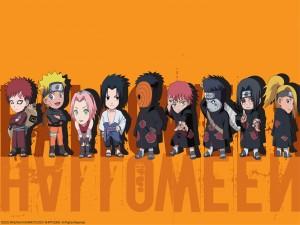 Naruto y sus amigos en Halloween
