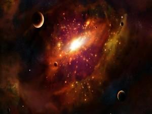Varios planetas cercanos