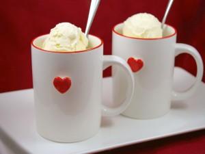 Dos tazas con helado