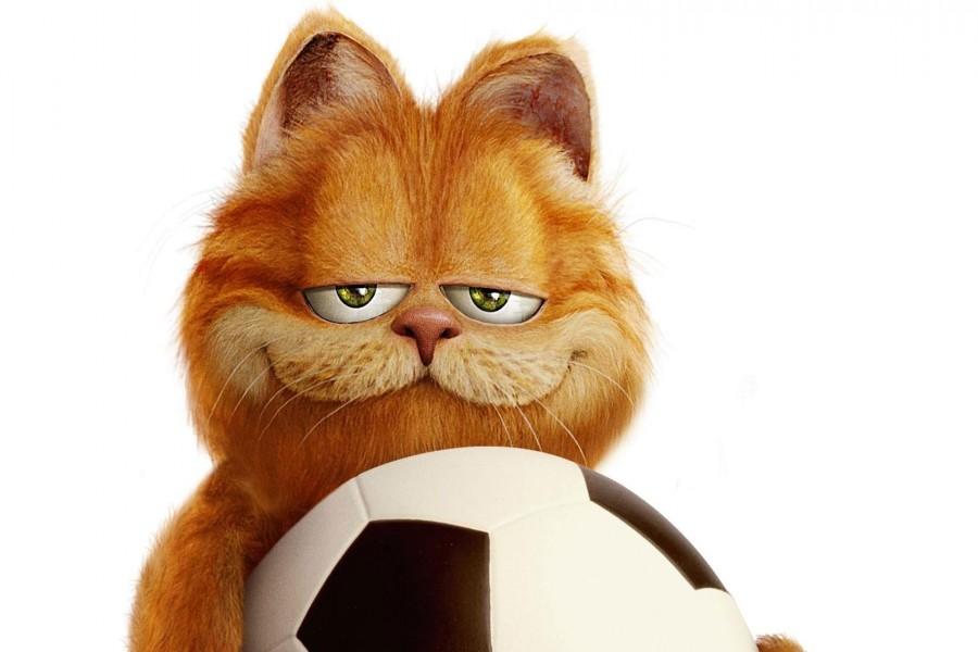 Garfield con una pelota