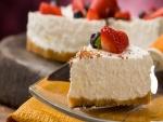 Cheesecake con fresas y arándanos