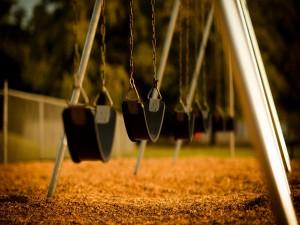 Columpios en el parque