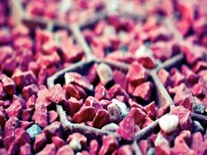 Piedras rojizas
