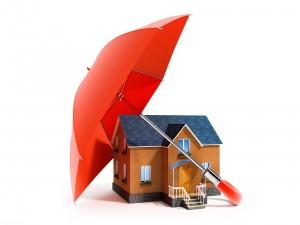 Casa bajo el paraguas