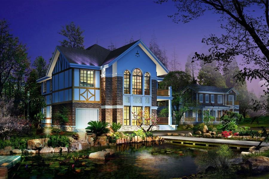 Barrio con bellas casas