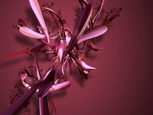 Pumas color púrpura en 3D