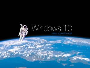 Windows 10 en el espacio